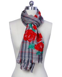 Saachi - Womens Hand Painted Scarf - Lyst