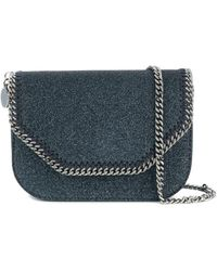 Stella McCartney - Women's Blue Polyurethane Shoulder Bag - Lyst