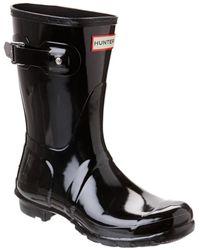 HUNTER - Women's Original Short Gloss Boot - Lyst
