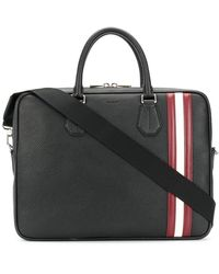 Bally - Men's Black Leather Briefcase - Lyst
