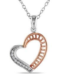 Catherine Malandrino - Diamond Heart Pendant With Chain I - Lyst