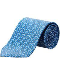Ferragamo - Aqua Golf Clubs Silk Tie - Lyst