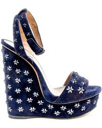 Alaïa - Womens Ankle Strap Wedge Sandal - Lyst