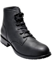 Cole Haan - Wayne Leather Lug Boot - Lyst