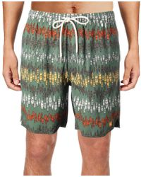 Quiksilver - Mens Printed Drawstring Swim Trunks - Lyst