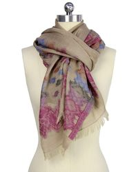 Saachi - Womens Sand Unicolor Scarf - Lyst