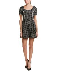 Blush Noir - Pleated A-line Dress - Lyst