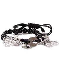 Guess - Women's Black Metal Bracelet - Lyst