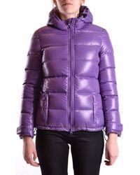 Aspesi - Women's Purple Polyamide Down Jacket - Lyst