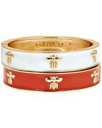 Fornash - Set Of 2 Plated Enamel Hinge Bracelets - Lyst