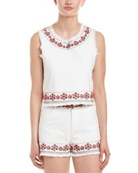 4si3nna - Embroidered Crop Top - Lyst