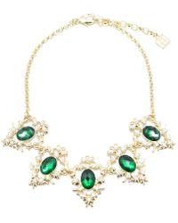 Zenzii - Regal Gemstone Collar Necklace - Lyst