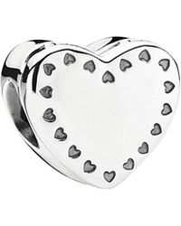 PANDORA - 14k & Silver Gift From The Heart Cz Charm - Lyst