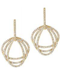 Gottex - 18k Plated Cz Earrings - Lyst