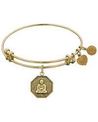 Angelica - Stipple Finish Brass Buddha Angeica Bangle Bracelet, 7.25 - Lyst