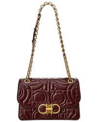 Ferragamo - Quilted Gancini Leather Shoulder Bag - Lyst