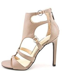Fergie - Womens Talisha Leather Open Toe Ankle Strap Classic Court Shoes - Lyst