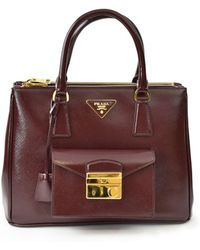 Prada - All Designer Products - Saffiano Leather Pocket Tote - Lyst