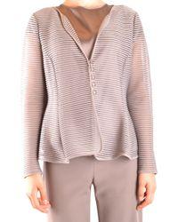 Armani - Women's Grey Polyamide Cardigan - Lyst