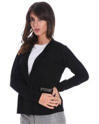 Fabiana Filippi - Women's Black Wool Cardigan - Lyst