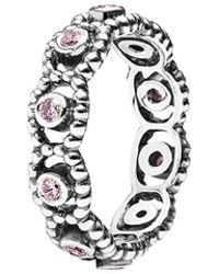PANDORA - Silver Cz Her Majesty Ring - Lyst