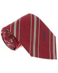 Missoni - U5026 Red/brown Regimental 100% Silk Tie - Lyst
