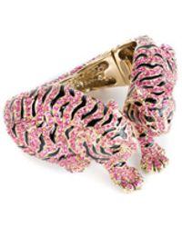 Roberto Cavalli | Womens Enamel Swarovski Metal Bracelet Tiger Cuff | Lyst