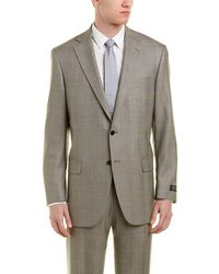 Hart Schaffner Marx - Chicago Classic Fit Wool Suit With Flat Front Pant - Lyst