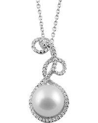 Splendid - Fancy Silver Pearl Cz Pendant - Lyst