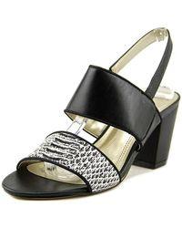 Tahari - Alex Open Toe Leather Sandals - Lyst