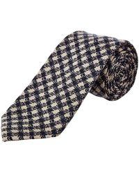 Cole Haan - Navy Parker Gingham Silk-blend Tie - Lyst