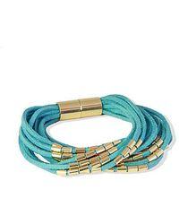Saachi - Suede String Bracelet - Lyst
