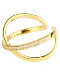 Saachi - Gold X Crystal Rings - Lyst