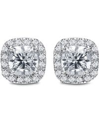 Diana M. Jewels - 18k White Gold Stud Earrings With 1.00 Carat Of Total Diamond Weight - Lyst