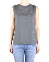 Jacob Cohen - Women's Grey Viscose Tank Top - Lyst