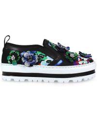MSGM - Women's Multicolor Velvet Slip On Sneakers - Lyst