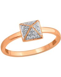 Socheec - Spike Ring With White Diamonds In 18k - Lyst