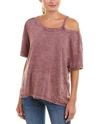 Free People - Alex Tee (violet) Women's T Shirt - Lyst
