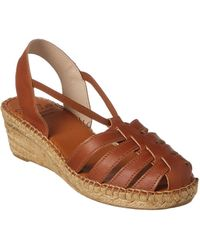 Andre Assous - Desi Leather Wedge - Lyst