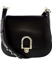 bf1967c3857d Michael Kors - Women s Large Delfina Rolex Leather Saddle Bag Shoulder  Satchel - Lyst