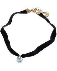 Barzel - Genuine Swarovski Edelweiss Blue Shade Crystal Pendnat Choker Necklace - Lyst