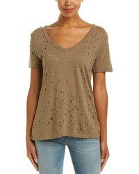 Michael Stars - Distressed T-shirt - Lyst