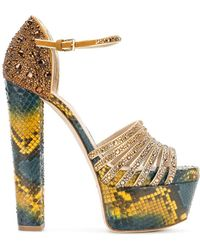 Elie Saab - Women's Yellow Leather Sandals - Lyst