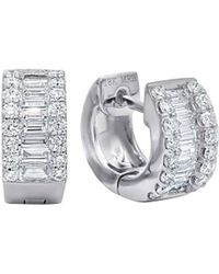 Diana M. Jewels - 18k White Gold Baguette And Round Cut Diamonds With 0.94 Carat Of Total Diamond Weight - Lyst