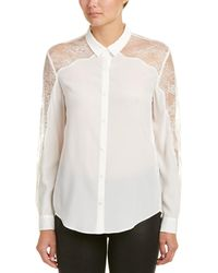 The Kooples - Lace Yoke Shirt - Lyst