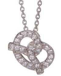 Adornia - Pretzel Necklace Silver Swarovski Crystal - Lyst