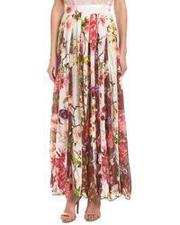 Hemant & Nandita - Rococo Sand Floral Silk Maxi Skirt - Lyst