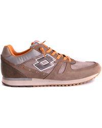 Lotto - Men's Brown Suede Sneakers - Lyst