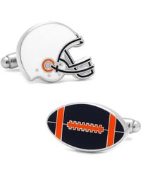 Ox and Bull Trading Co. - Varsity Football Navy, Orange, And White Cufflinks - Lyst
