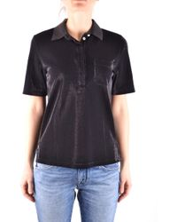 Jacob Cohen - Women's Black Cotton Polo Shirt - Lyst